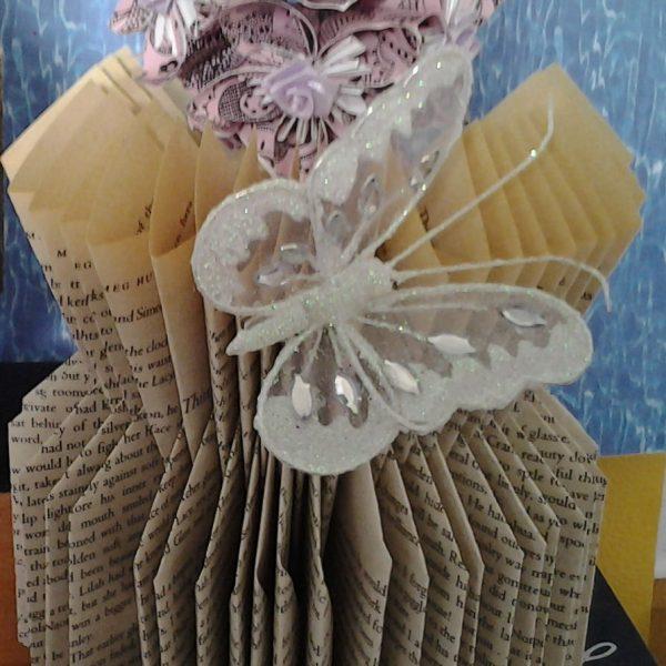 V-Vase with WhiteButterfly